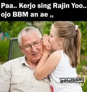 Papa kerjo,jangan BBM an