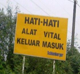 Papan peringatan tulisan gokil