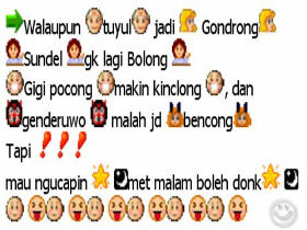 Emoticon lucu